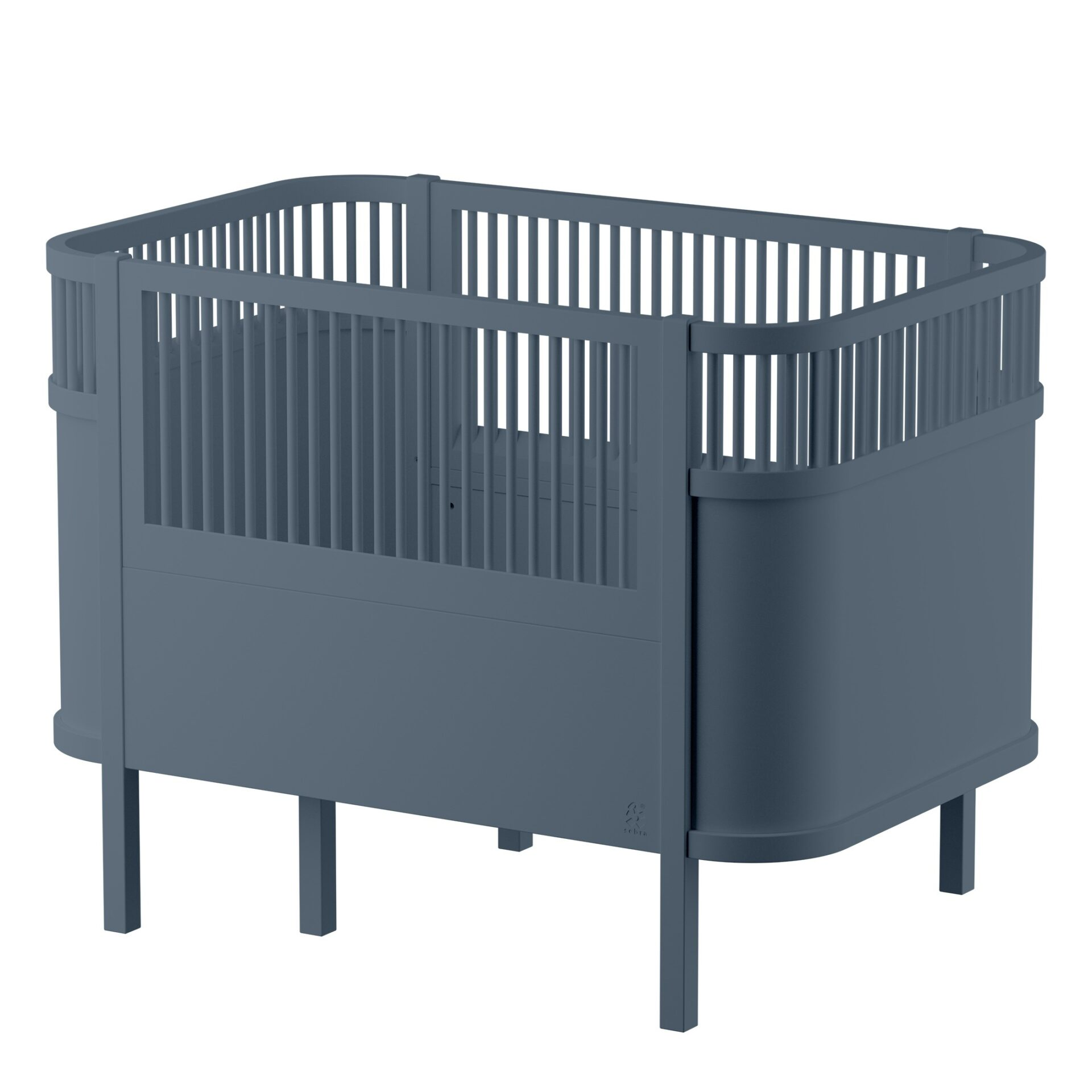 Sebra Bett in Grau für Babys