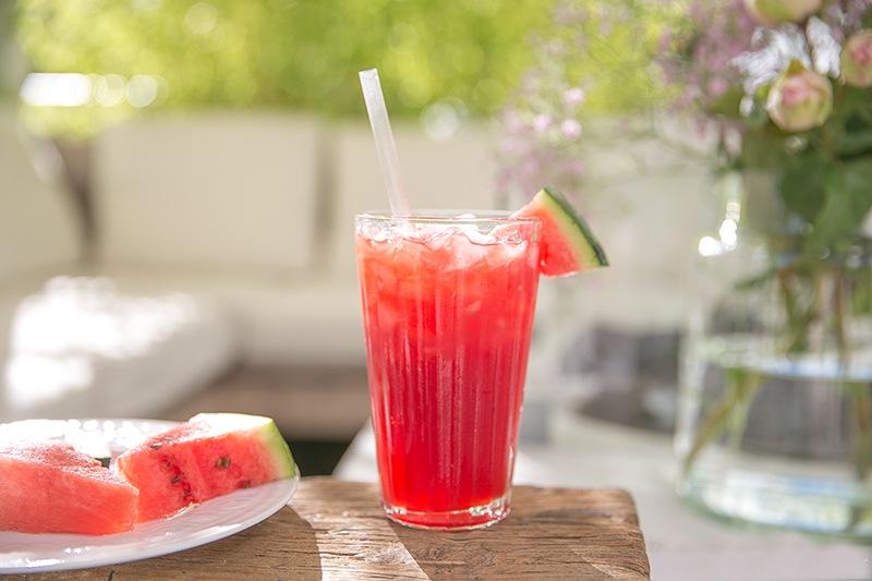 Alkoholfreier Cocktail: Wassermelonen-Granita mit Pfefferminz