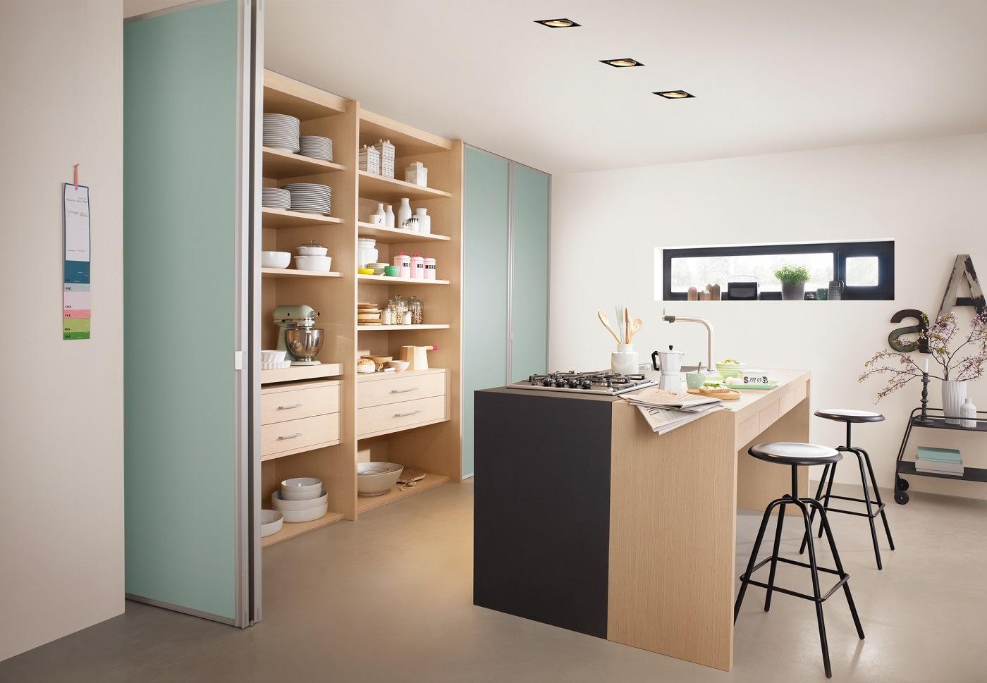 Falttür raumplus für die Küche
