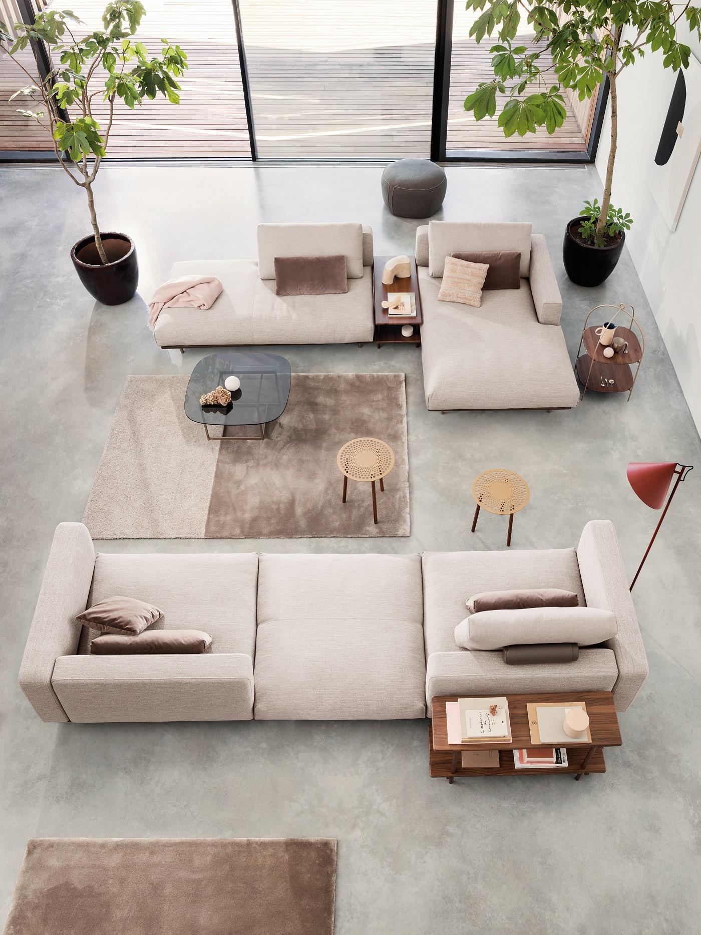 Hellgraues Sofa von Rolf Benz