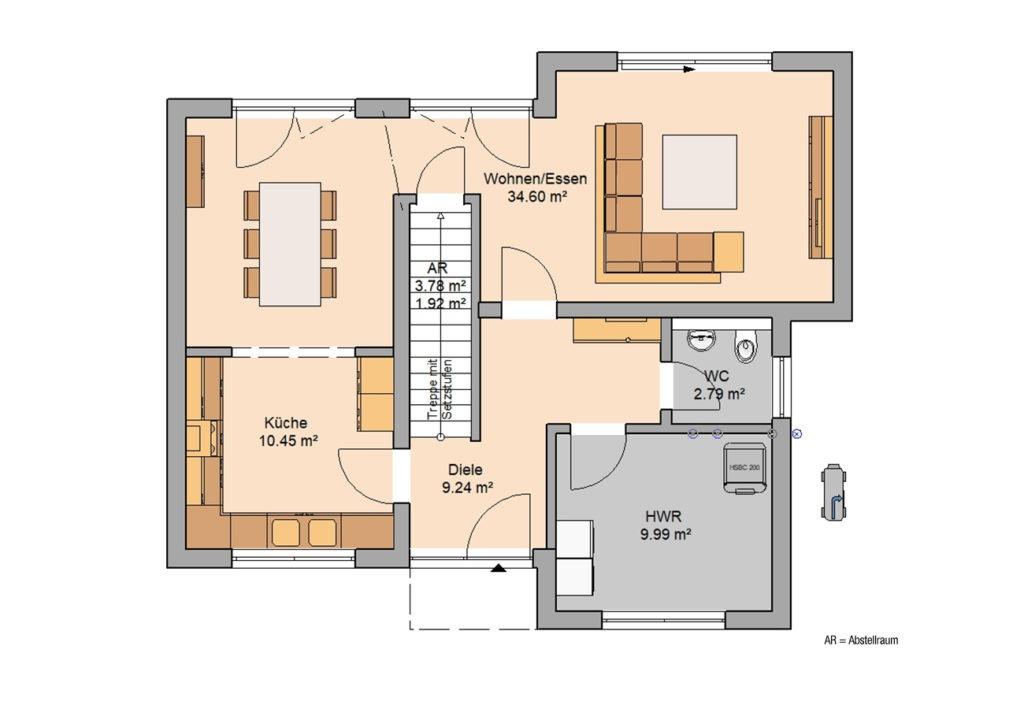 Grundriss Bauhaus Modus von Kern-Haus