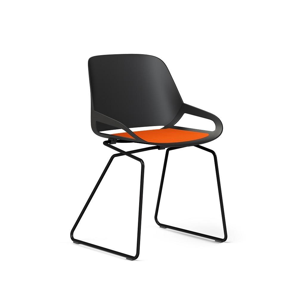 Aeris Numo Stuhl schwarz mit Kufengestell