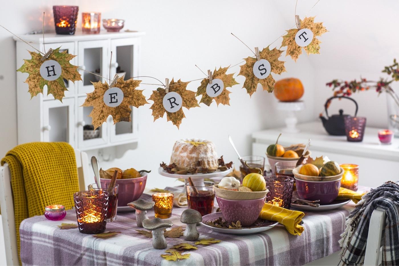 Tischdeko Ideen für den Herbst
