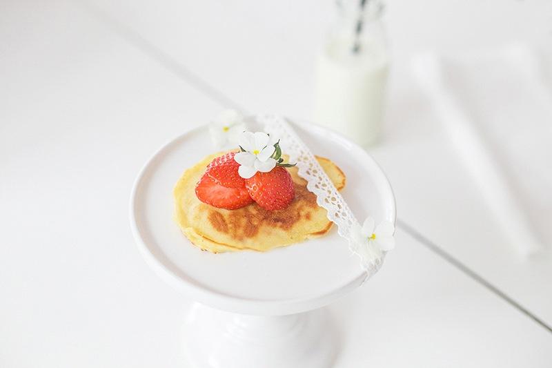 Leckeres Pancake Rezept mit Erdbeeren