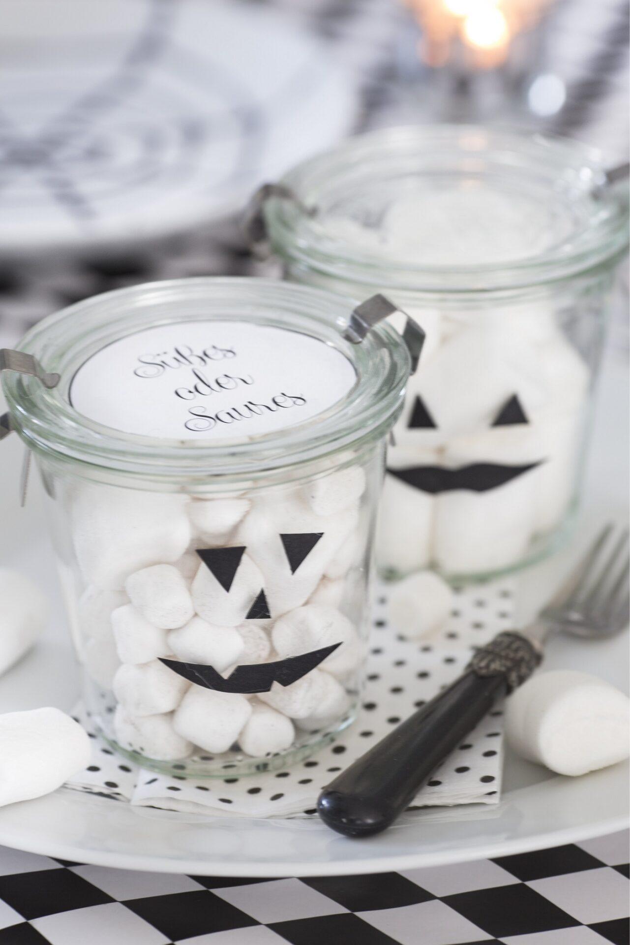 schnelle Ideen als Tischdeko zu Halloween