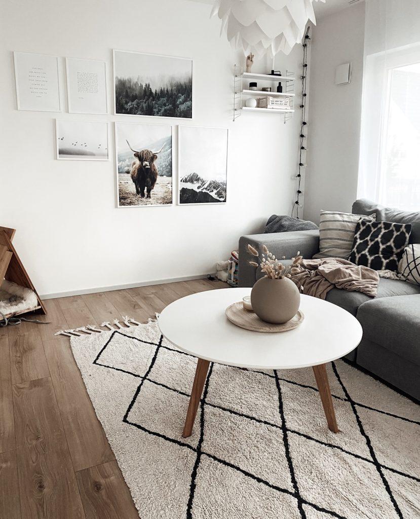 Posterwand im Wohnzimmer