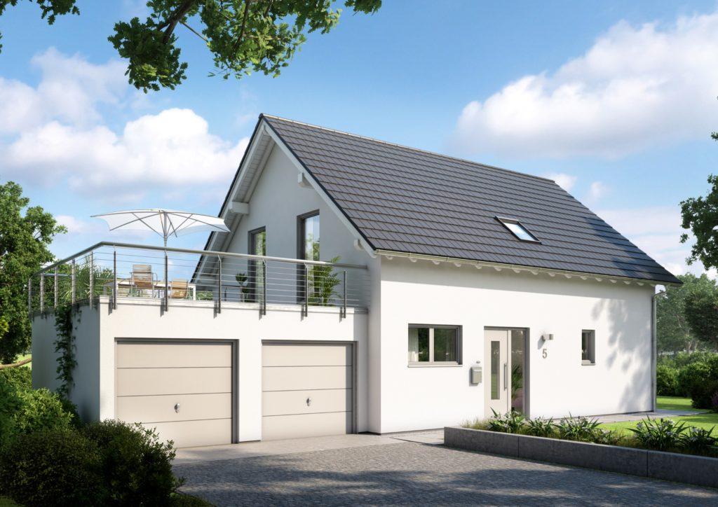 Satteldachhaus mit Doppelgarage
