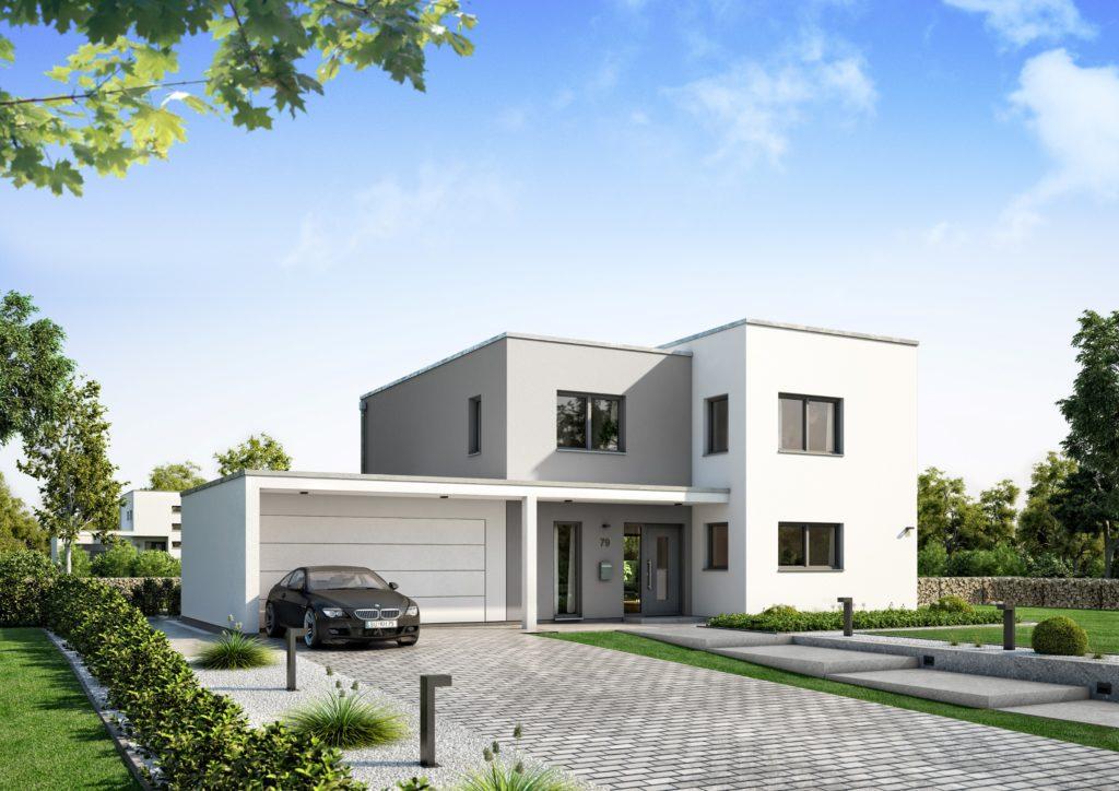 Bauhaus mit schicker Garagenkombination