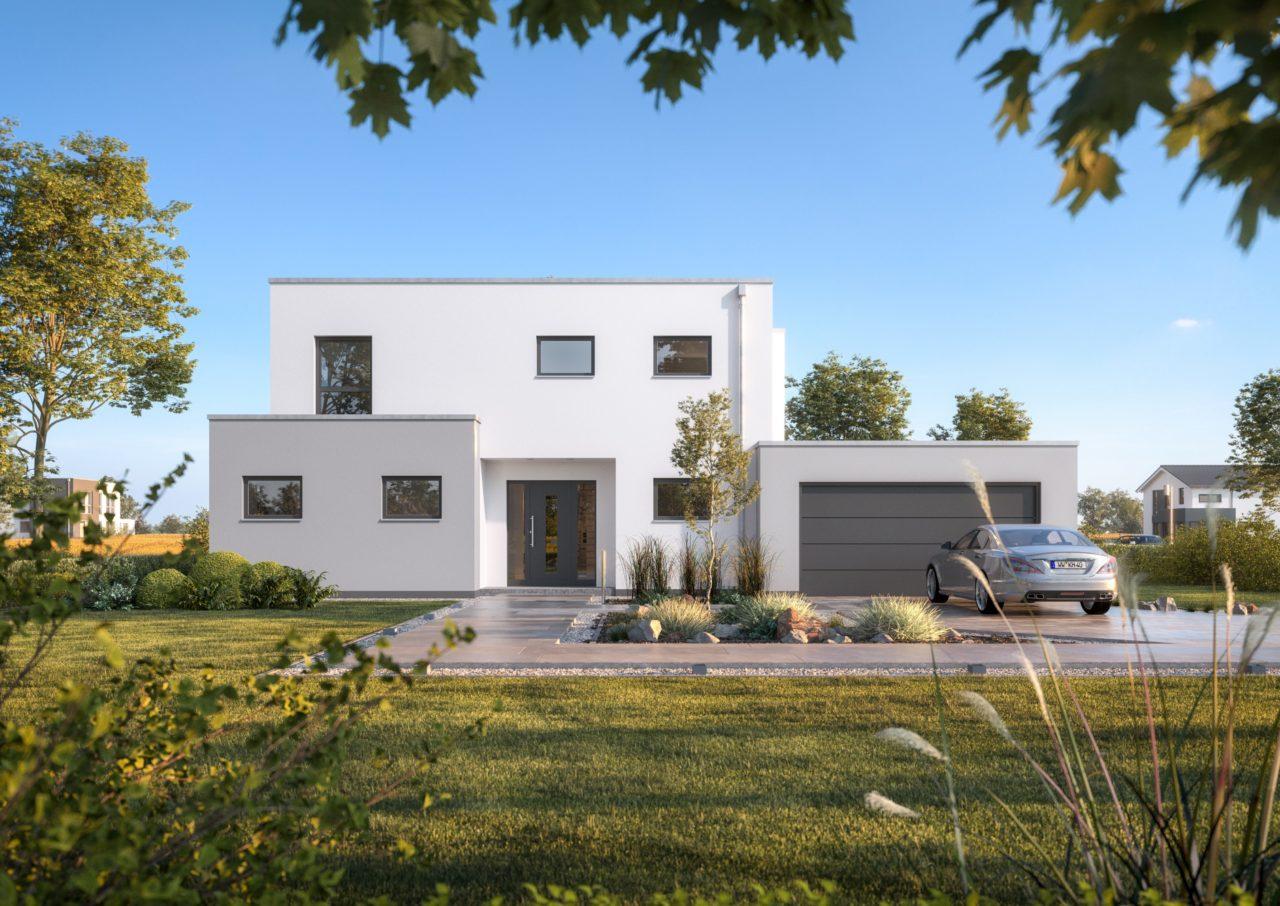 Bauhaus mit Garage