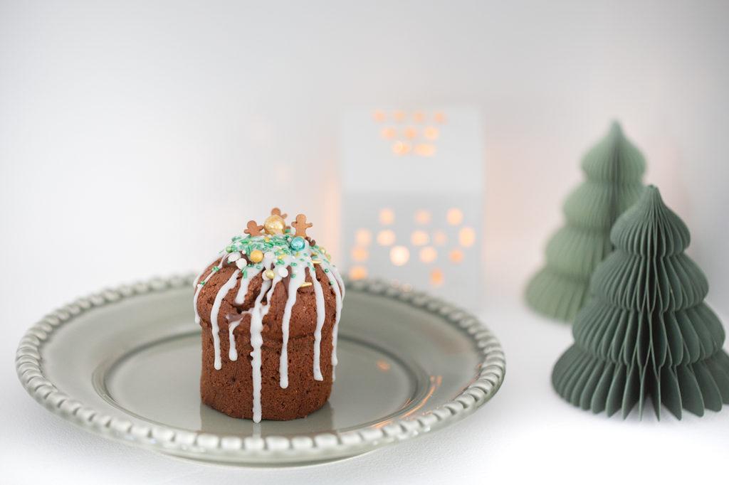 Muffin mit Zuckerguss