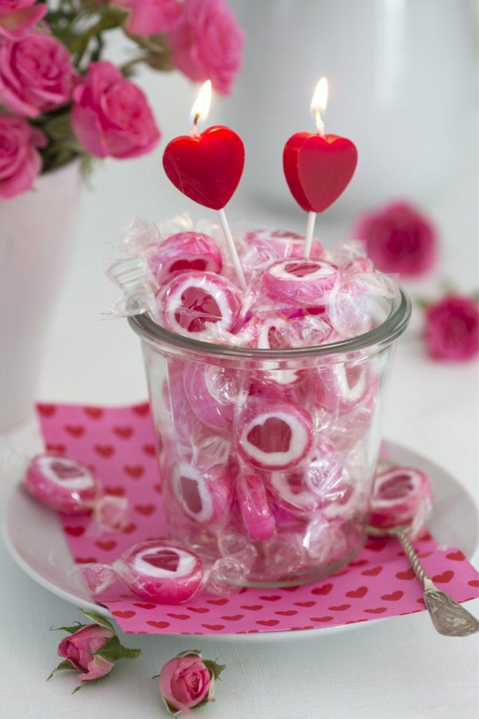 Herzbonbons Idee Valentinstag