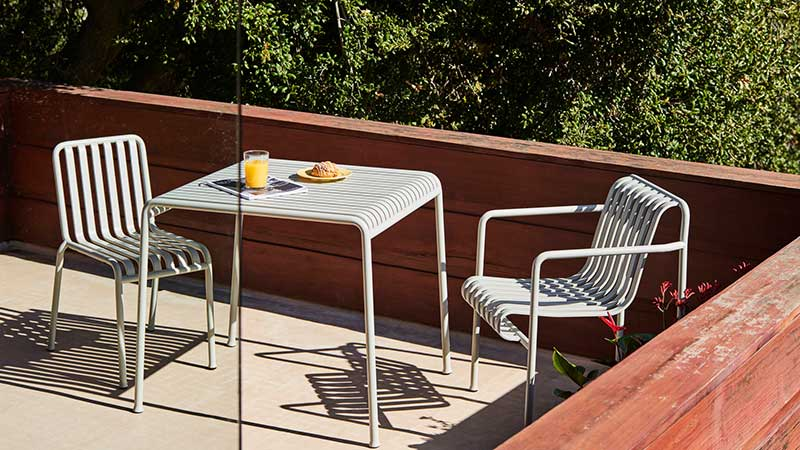 minimalistische Gartenmöbel Balkon