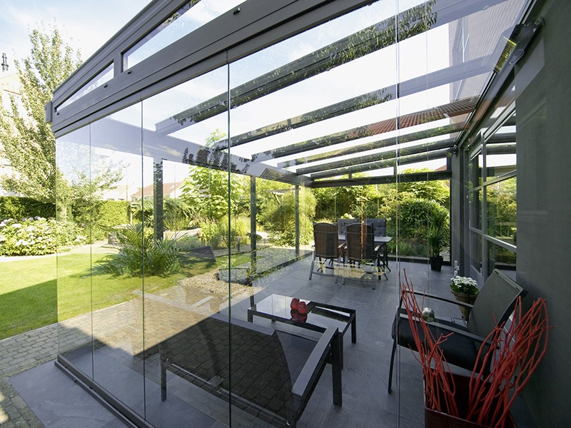 Glasoase auf der Terrasse