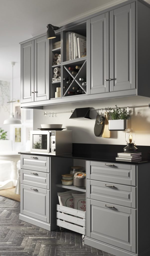 Graue Küche IKEA