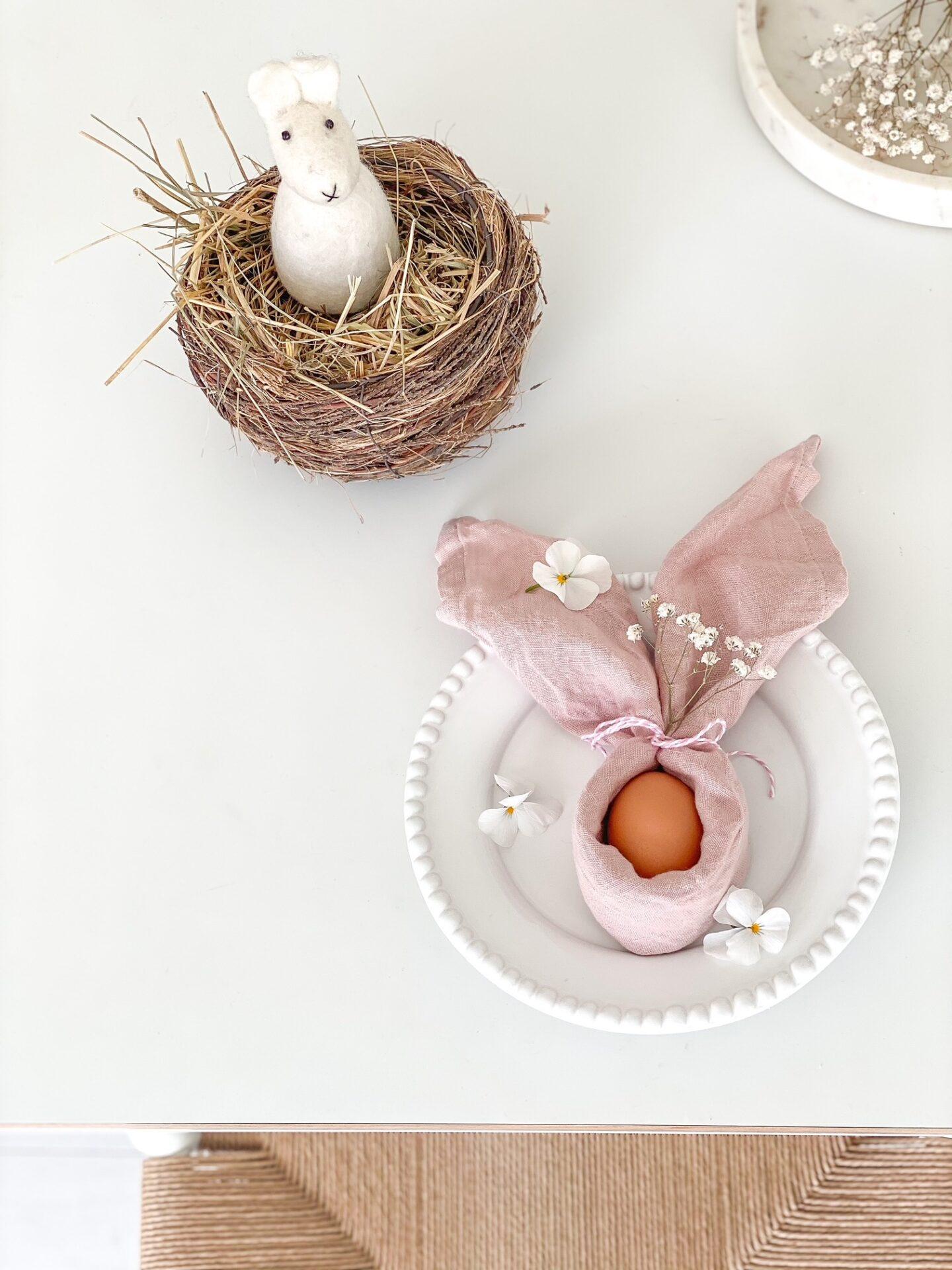 Schnelle Tischdeko zu Ostern