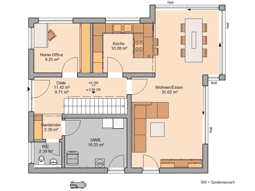 Familienhaus Allea Grundriss Erdgeschoss