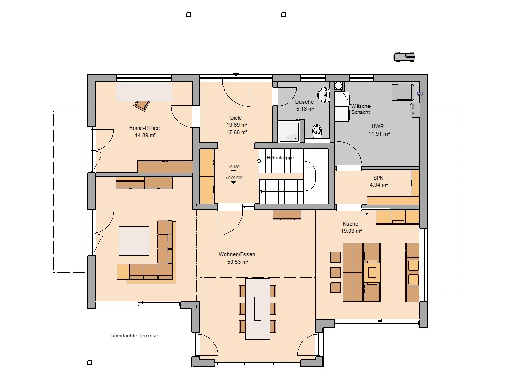 Familienhaus Maxime Grundriss Erdgeschoss