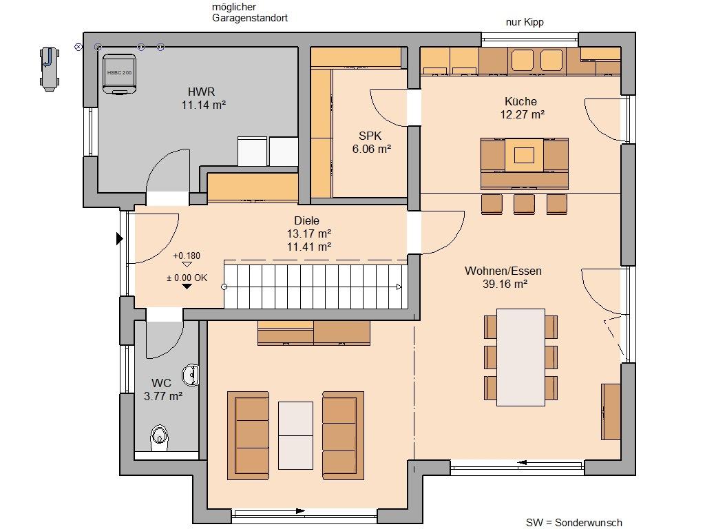 Familienhaus Vero Grundriss Erdgeschoss