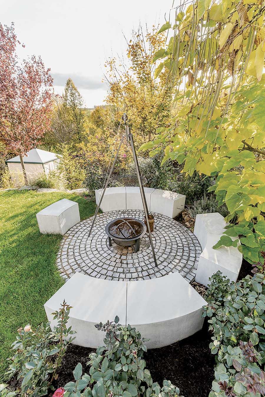 Grillstelle im Garten Ideen