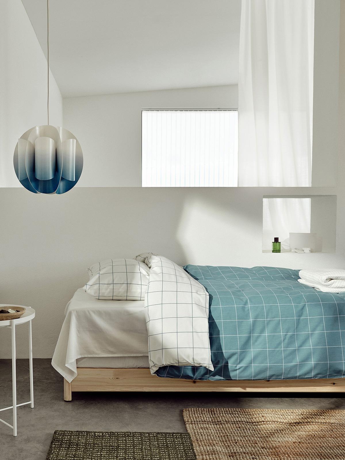 Karierte Bettwäsche IKEA