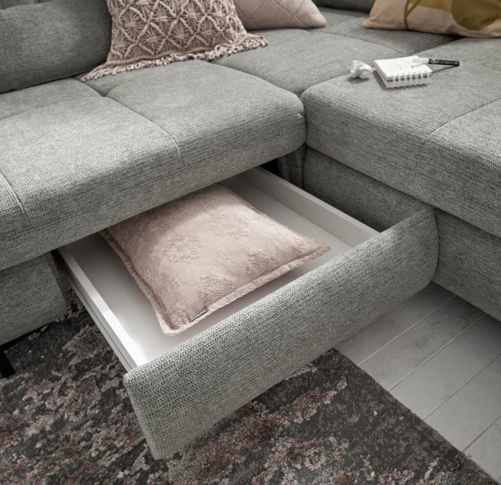 Sofa mit Schublade zum Ausziehen