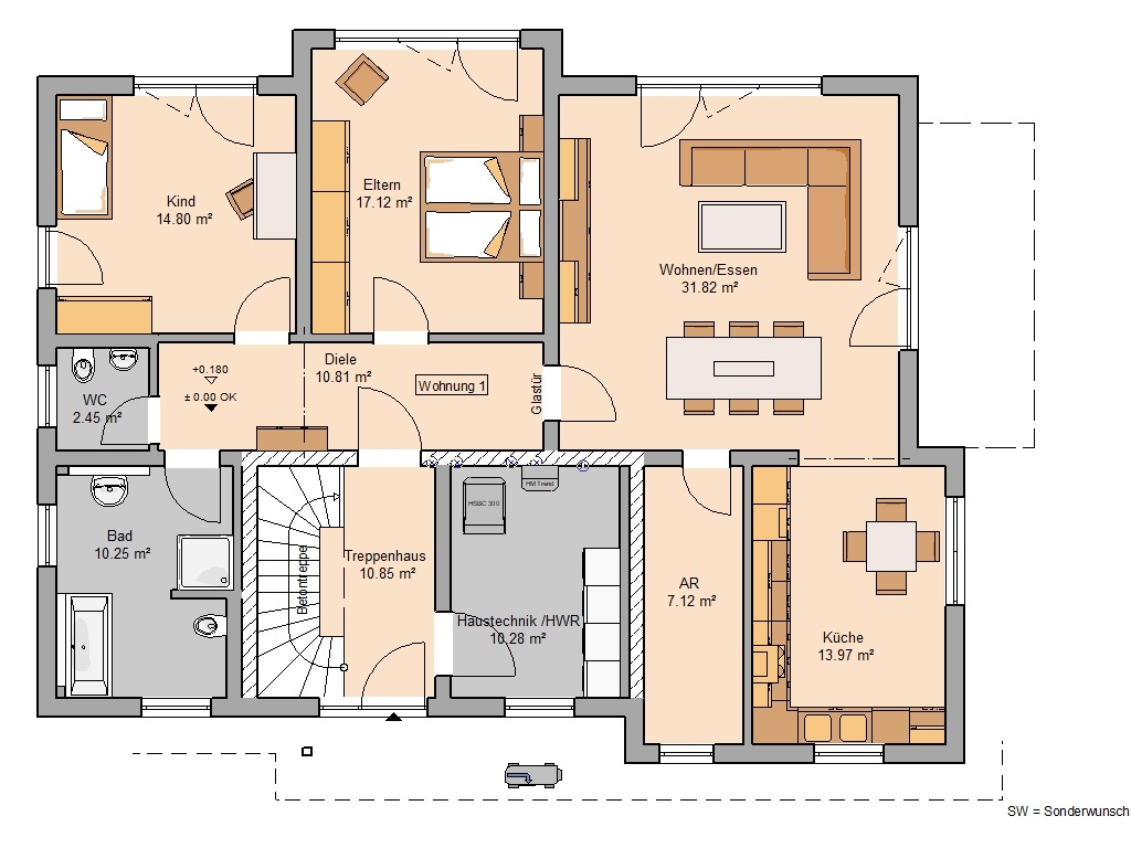Grundriss Zweifamilienhaus Extend