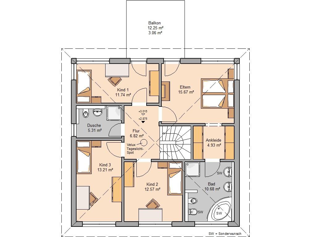 Das perfekte Schlafzimmer mit Ankleide und Bad