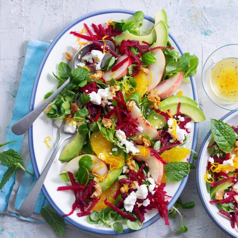 Rote Beete Salat mit Feta