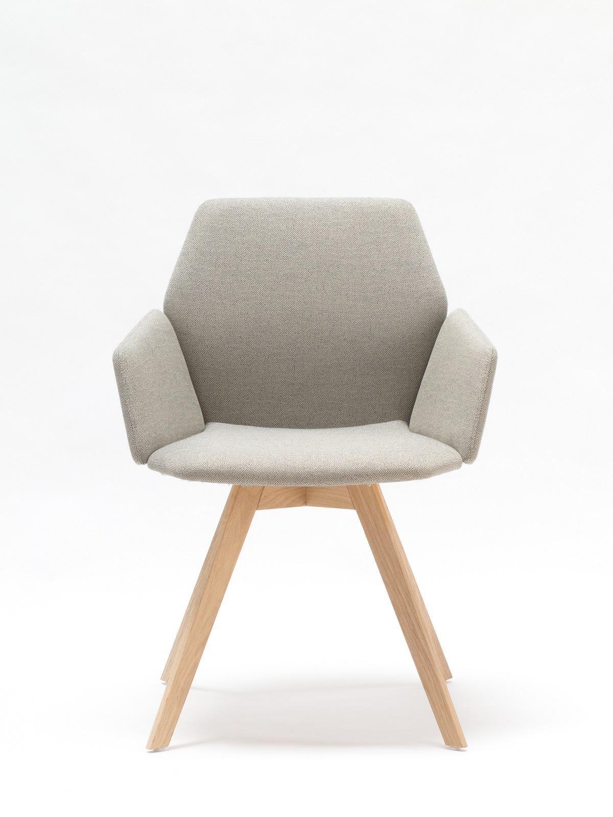 Stuhl Honey in Grau mit Holz