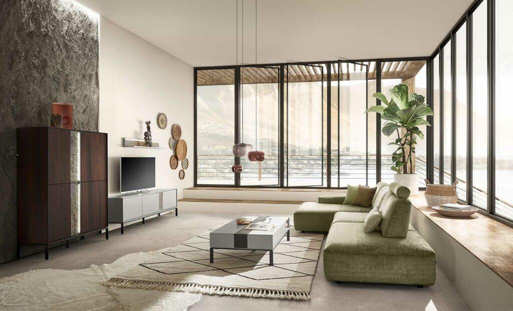 neues Sofa von WK Wohnen in Grün