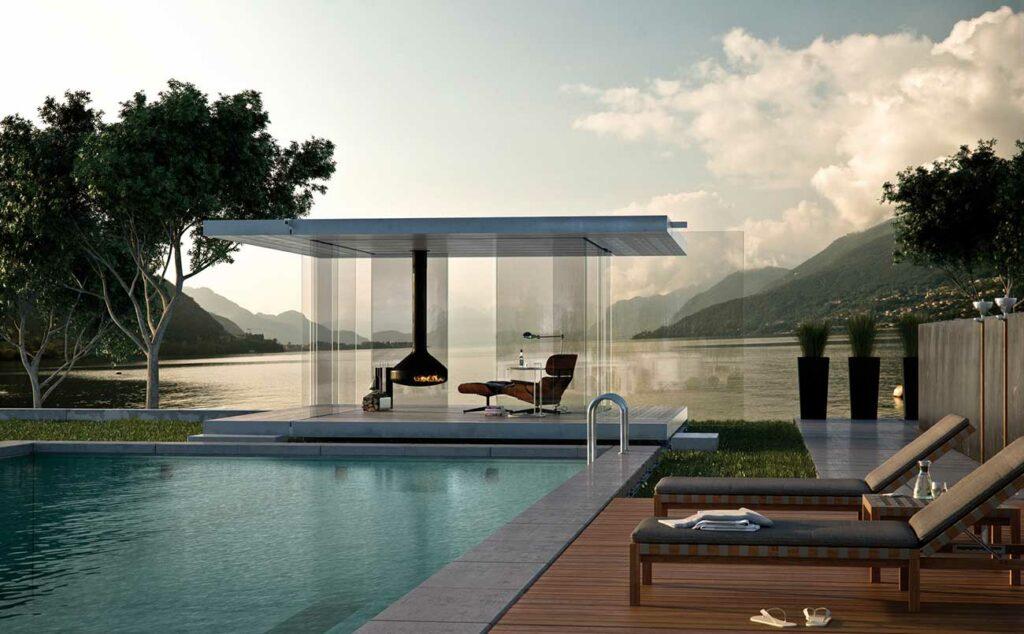 Pavillon aus Glas