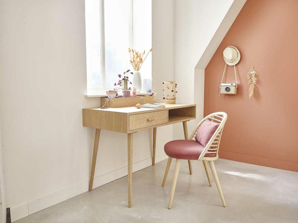Schreibtisch aus Rattan