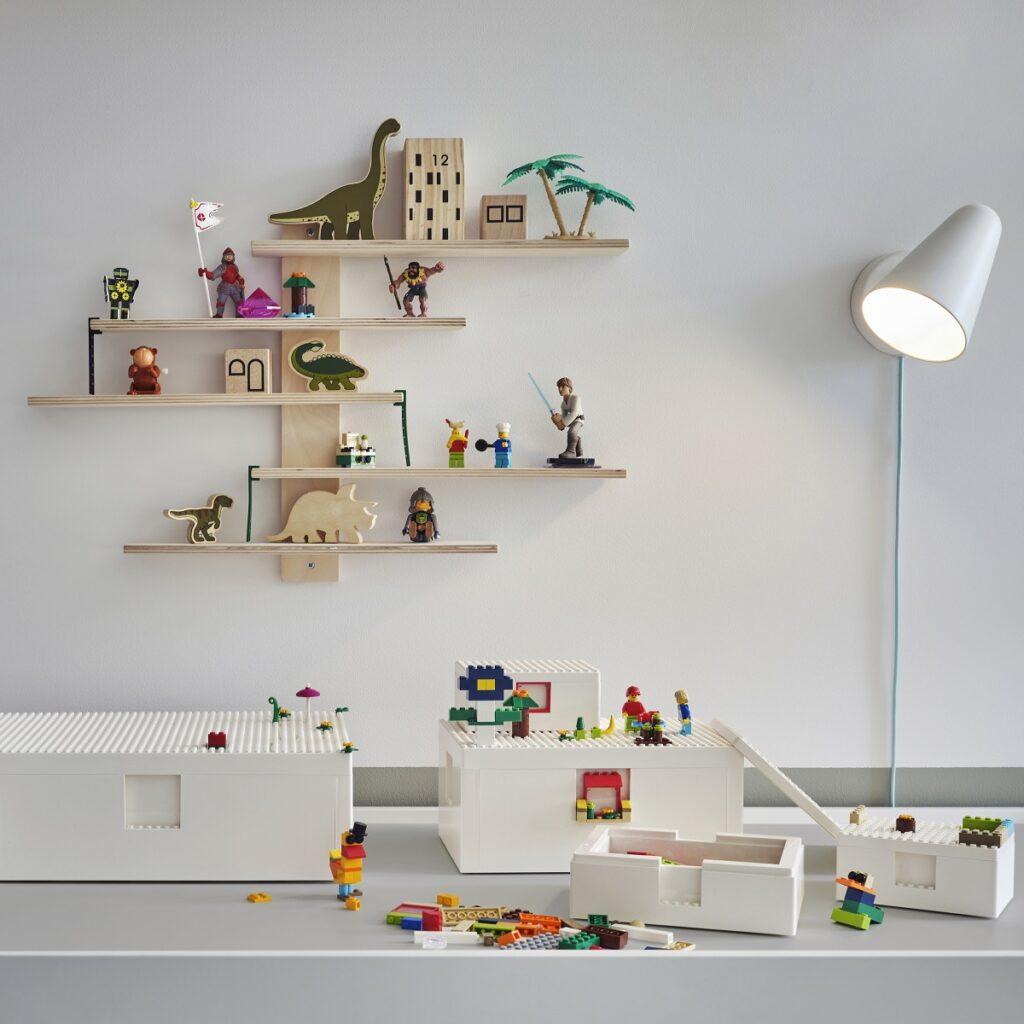 Aufbewahrungsidee IKEA mit BYGGLEK