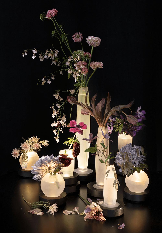 Beleuchtete Vasen