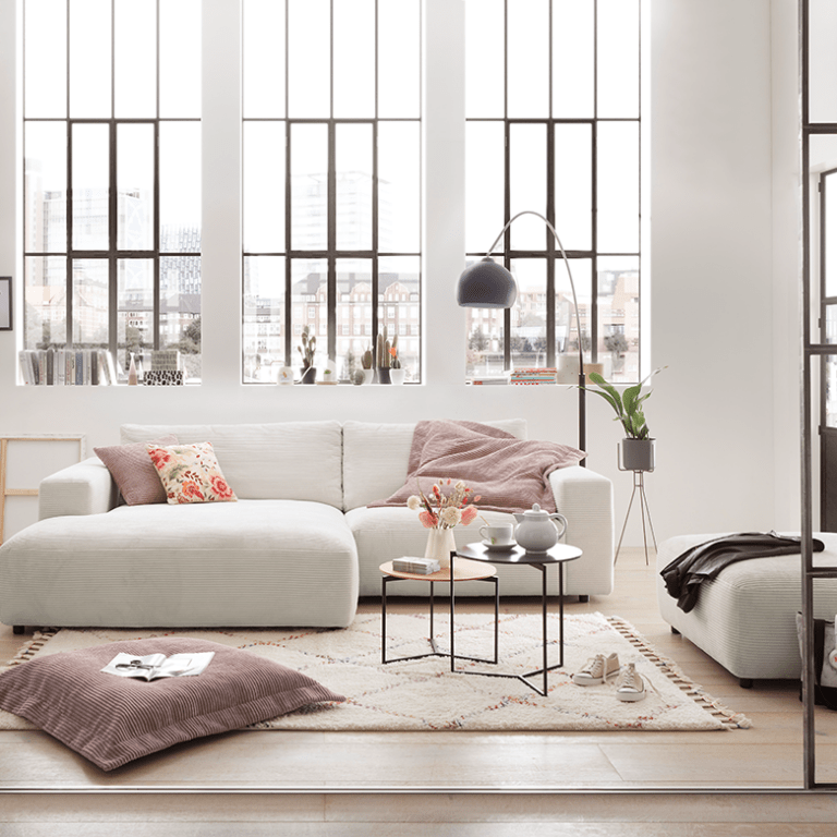 Modernes weißes Sofa