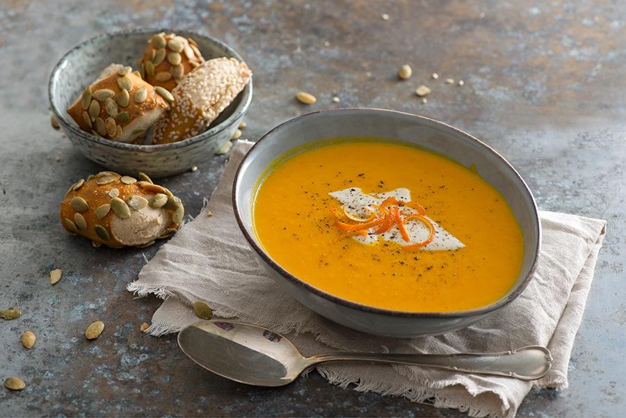 Kürbissuppe mit Orangen